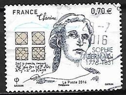 FRANCE   -   2016.   Y&T N° 5036 Oblitéré Cachet Rond.  Sophie Germain - France