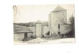 Cpa - 23 - Eglise Abbatiale De Bonlieu Derniers Restes - Jouanique 12 - Tour Matériel Agricole - Guéret