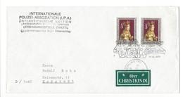 21226 - Christkindl 1977 Lettre Pour Erfstadt 14.12.1977  + Internationale Polizei Assoziation Ottenschlag - Noël