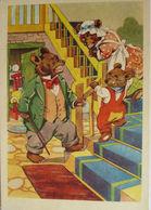 """""""Teddy, Bären, Bärenfamilie, Treppe"""" 1940, Serie Kissemiss ♥  - Ansichtskarten"""