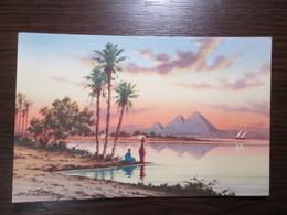 The Pyramids Of Giza And Nile Scene  / Egypt - Pyramids