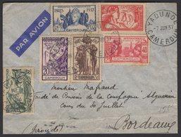 Série De L'Exposition Internationale 1937 Du CAMEROUN Seul Sur Enveloppe PAR AVION Oblt A5 De YAOUNDE P BORDEAUX - Cameroun (1915-1959)