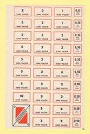 Feuille Formation Professionnelle - Timbres Sans Valeur 10 5 3 2 1 0.50 0.30 0.15 Remboursement - Gommee - 1973 - Fictifs