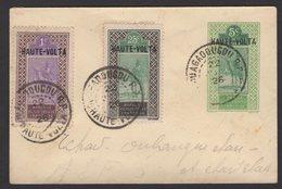 Enveloppe Entier 5c Du HAUT SENEGAL Surchargé HAUTE VOLTA + 1c +25c Oblt OUAGADOUGOU R.P. - Haute-Volta (1920-1932)