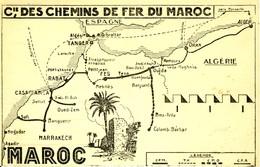 Cie Des Chemins De Fer Du Maroc  Carte Géographique  Cpsm Format Cpa - Other