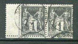 FRANCE- Y&T N°83b) En Paire- Oblitéré - 1876-1898 Sage (Type II)