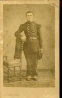 Real Photo, Old Around 1900, Young Soldier, Photograph C. Lebert, Paris, 10.3x6.5cm, Cardboard, Militaria - Guerra, Militari