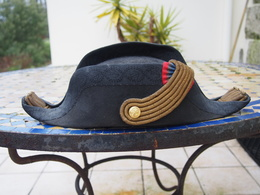 Bicorne D'officier Supérieur De La Marine Francaise Fin 19eme - Casques & Coiffures