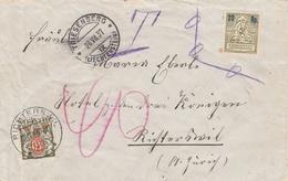 Liechtenstein Lettre Triesenberg Taxée En Suisse 1937 - Liechtenstein