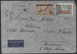1937 Svizzera, Lettera In Posta Aerea Per L'Argentina, Timbro Di Arrivo - Posta Aerea