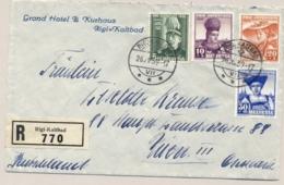 Schweiz - 1939 - Pro Juventute Set On R-cover From Rigi-Kaltbad To Wien / Österreich - Pro Juventute