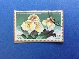 1992 TAILANDIA THAILAND FRANCOBOLLO USATO STAMP USED - FLORA PIANTE FIORI 3 - Tailandia