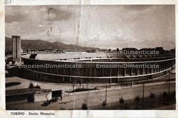 Torino Stadio Mussolini Piega Centrale Viaggiata 1937 Stadium Stadion Stade - Stadiums & Sporting Infrastructures