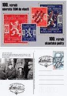 Czech Republic - 2018 - Centenary Of Czech Scout Post - Return Of Tomas Masaryk To Czechia - Postcard With Postmark - Entiers Postaux