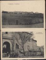 CPA Carte Postale Double Souvenir De Lasserre Vue Générale Et Le Portail De La Ville Edit Palau Frères Carcassonne - Francia