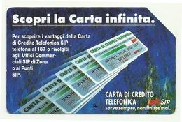 Italia - Tessera Telefonica Da 10.000 Lire N. 123 - 31/12/93 Carta Infinita - Italie