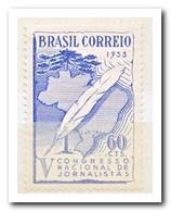 Brazilië 1953, Postfris MNH, Quill Pen Over Brasil - Brazilië
