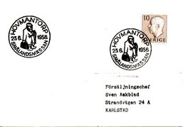 SUEDE. Flamme De 1956 Sur Enveloppe. Hovmantorp. - Suède