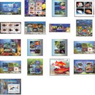 2139a/ Lot De 17 Blocs Poissons (Fish) Différents Neuf ** MNH Requin Shark - Stamps