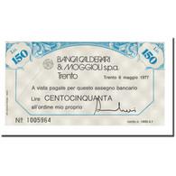 Billet, Italie, 150 Lire, 1977, 1977-05-06, SPL+ - [10] Chèques