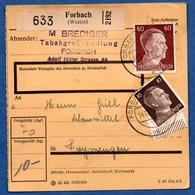Colis Postal  - Départ Forbach  -  14/12/1942 - Allemagne