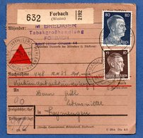 Colis Postal  - Départ Forbach  -  15/12/1942 - Allemagne