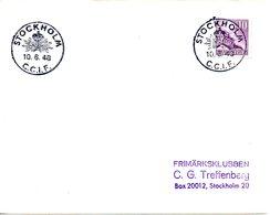 SUEDE. Flamme De 1948 Sur Enveloppe. C.C.I.F. Stockholm. - Other