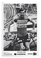 CARTE CYCLISME EDDY GOOSSENS TEAM CARPENTER SHIMANO 1973 - Cyclisme