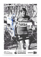 CARTE CYCLISME RONNY VAN MARCKE TEAM CARPENTER SHIMANO 1973 - Cyclisme