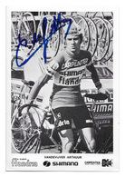 CARTE CYCLISME ARTHUR VAN DE VIJVER TEAM CARPENTER SHIMANO 1973 - Cyclisme