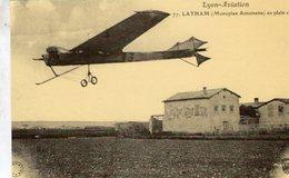 Lyon-Aviation  -  Latham (monoplan Antoinette) En Plein Vol   -  Carte Postale Re-edition Cecodi - Aviadores