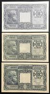10 LIRE Giove 1944 Serie 3 Decreti  LOTTO 1034 - [ 1] …-1946 : Koninkrijk