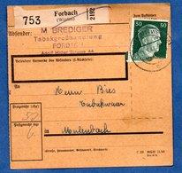 Colis Postal  - Départ Forbach  -  12/05/1943 - Duitsland