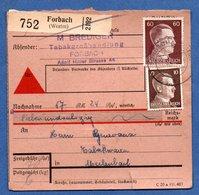 Colis Postal  - Départ Forbach  -  12/05/1943 - Allemagne