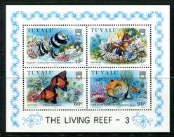 Tuvalu 1989 Coral Reef Life - 3rd Issue MS MNH (SG MS562) - Tuvalu