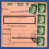 Colis Postal  - Départ Forbach  -  Pour Farréberviller 16/11/1943 - Allemagne