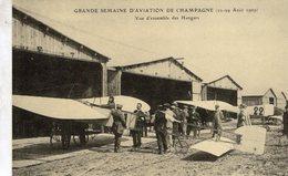 Grande Semaine D'Aviation De Champagne 1909  -  Vue D'ensemble Des Hangars   -  Carte Postale Re-edition Cecodi - Aviatori