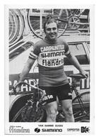CARTE CYCLISME GUIDO VAN DAMME TEAM CARPENTER SHIMANO 1973 - Cyclisme