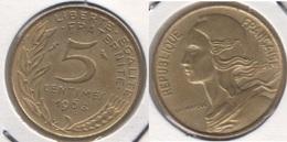 Francia 5 Centimes 1968 KM#933 - Used - C. 5 Centesimi