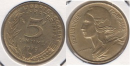 Francia 5 Centimes 1979 KM#933 - Used - C. 5 Centesimi