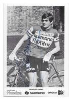 CARTE CYCLISME MARC DEMEYER TEAM CARPENTER SHIMANO 1973 - Cyclisme