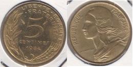 Francia 5 Centimes 1984 KM#933 - Used - Francia