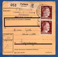 Colis Postal  - Départ Forbach  -  23/12/1942 - Allemagne