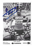 CARTE CYCLISME GERARD DAVID TEAM CARPENTER SHIMANO 1973 - Cyclisme