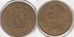Francia 10 Centimes 1963 KM#929 - Used - Francia