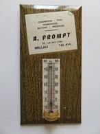 362 - Thermomètre Glacoïde - Publicité Charbons - Fuel - Gaz - Millau - Plaques Publicitaires