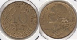 Francia 10 Centimes 1970 KM#929 - Used - Francia