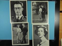 Lot De 4 Photos (17,5 Cm X 13 Cm) De La Famille Royale Belge (Dynastie Belge) /41/ - Familles Royales