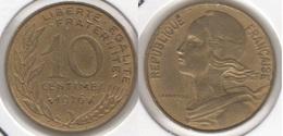 Francia 10 Centimes 1976 KM#929 - Used - Francia