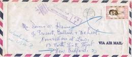 30914. Carta Aerea KINGSTON (jamaica) 1971. Llevada Por Error A London. Retourned - Jamaica (1962-...)
